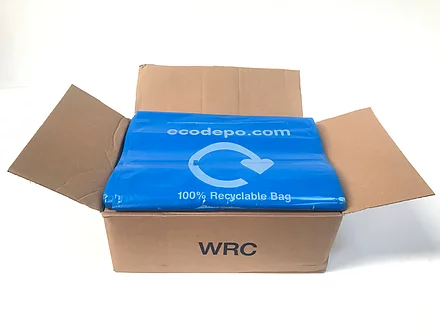 100% Recyclable bag liners - blue - EcoDepo