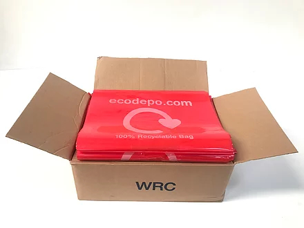 100% Recyclable bag liners - red - EcoDepo