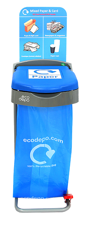 Recycling Pedal Bin - Paper with Signage - EcoDepo