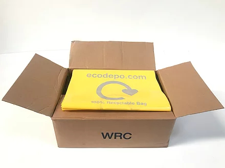 100% Recyclable bag liners - yellow - EcoDepo
