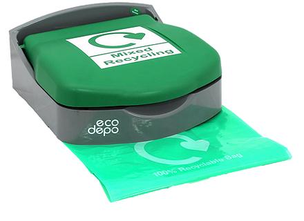 Recycling Bin - Wall Mount - Mixed Recycling - EcoDepo