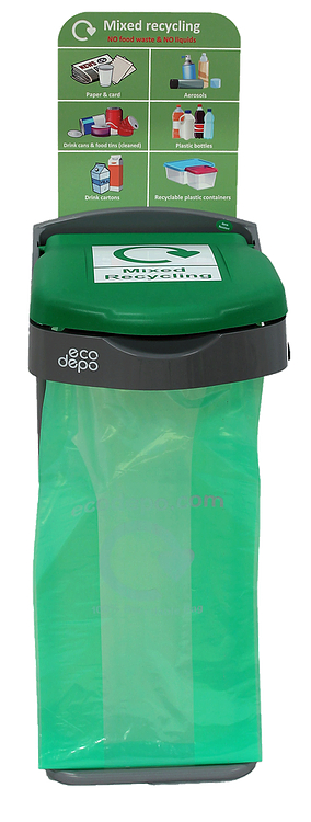 Recycling Bin - Mixed Recycling with Signage - EcoDepo