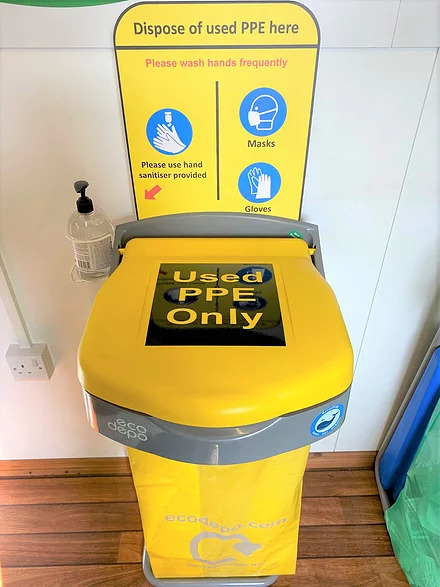 EcoDepo - PPE Bin with Hand Sanitiser