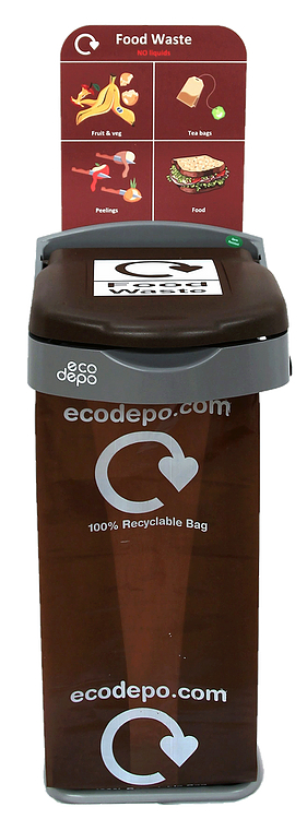 Recycling Bin - Food Waste with Signage - EcoDepo