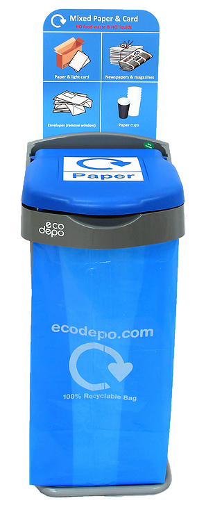 Recycling Bin - Paper with Signage - EcoDepo