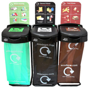 Recycling bin station
