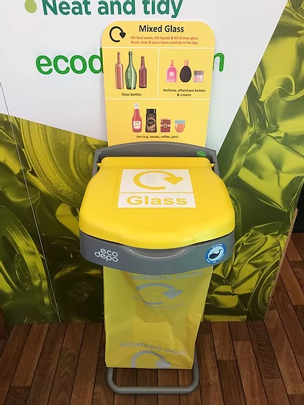 Recycling Bin - Glass with Signage - EcoDepo