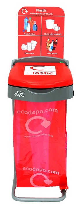 Recycling Pedal Bin - Plastic with Signage - EcoDepo