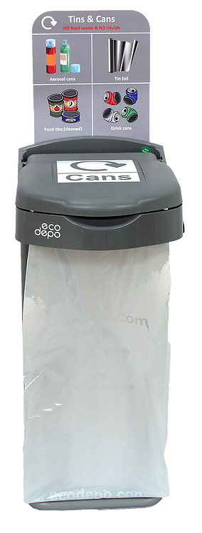 Recycling Bin - Cans with Signage - EcoDepo